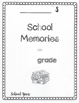 End of year memory book blank cover page