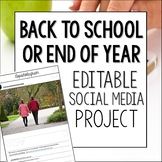 Back to School Social Media Project Editable
