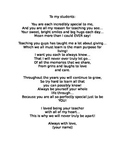 End of year poem (bookmark gift)