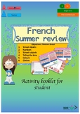 French summer revisions - summer homework booklet for beginners
