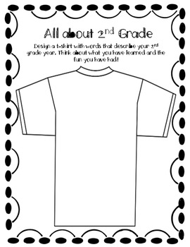 End of year t-shirt design
