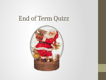 End off Term General Knowledge quizz