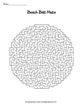 End or Beginning of the Year Summer Beach Ball Maze