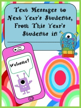End the Year With a Memory Booklet of Messages for Your Next Year's Students