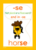 End words with -se lesson and card