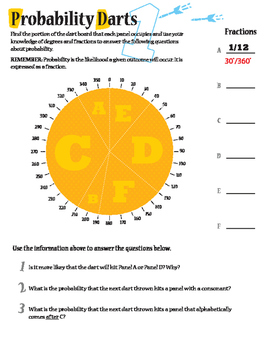End year Activities: Probability Darts