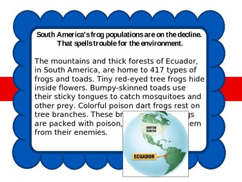 Endangered Frogs vs. Koalas-Compare and Contrast Powerpoint Lesson