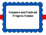 Endangered Frogs vs. Koalas-Compare and Contrast Powerpoin