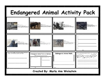 Endangered Animal Activity Pack