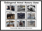 Endangered Animal Memory Game