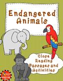 Endangered Animal Non Fiction No Prep Close Reading