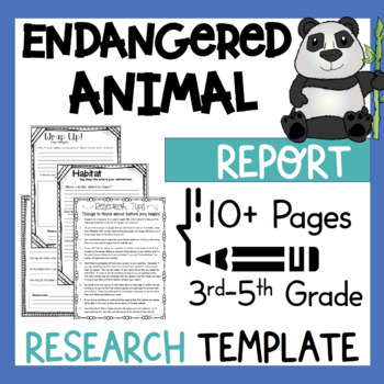 Endangered Animal Research Report Project Template! Plus Kid Friendly Websites!