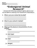 Endangered Animal Research