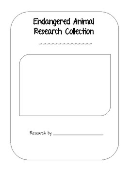 Endangered Animal Research Graphic Organizers