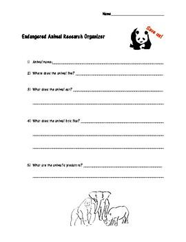Endangered Animal Research Organizer