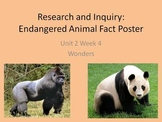 Endangered Animal Research - Poster Project for Wonders Re
