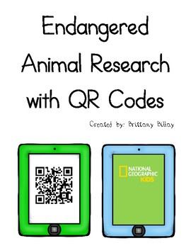 Endangered Animal Research with QR Codes