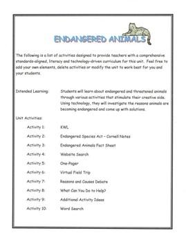 Endangered Animal Unit