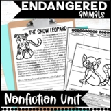 Endangered Animal Nonfiction Informational Text Unit