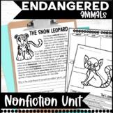 Endangered Animal Nonfiction Informational Text Unit
