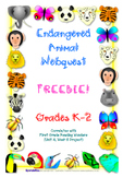 Endangered Animal Webquest K-2 (Reading Wonders)