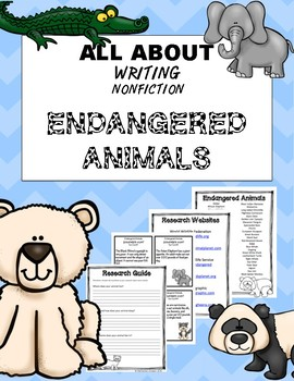 Endangered Animal Writing & Research Project
