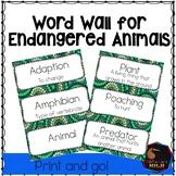 Endangered Animal word wall