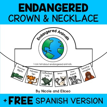 Necklace Craft - Endangered Animals Activity