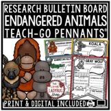 Endangered Animals Research Project Templates • Teach- Go Pennants™