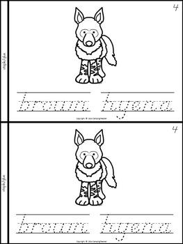Endangered Animals Book for Kindergarten and 1st Grade {D'Nealian Style}