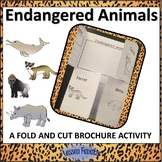 Endangered Animals Informational Text Passages and Brochure Activity