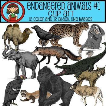 Endangered Animals Clip Art #1