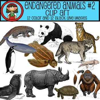 Endangered Animals Clip Art #2