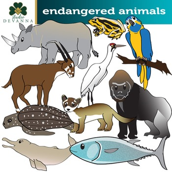 Endangered Animals Clip Art