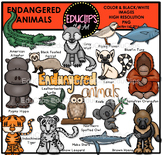Endangered Animals Clip Art Bundle {Educlips Clipart}