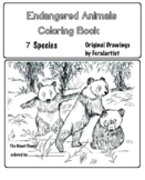 Endangered Animals Coloring Book - 6 Different Species, Art Science