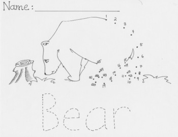 Endangered Animals Connect the Dots - Bear