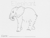 Endangered Animals Connect the Dots - Elephant