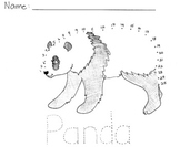 Endangered Animals Connect the Dots - Panda