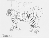 Endangered Animals Connect the Dots - Tiger