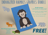 Endangered Animals Felt Graphic Bundle - FREE
