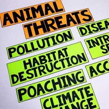 Endangered Animals Lapbook Interactive Kit | Endangered Species