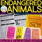 Endangered Animals Lapbook & Passages   Endangered Species