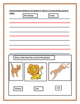 Endangered Animals. Lions. Integrated Study. Kindergarten, Early Primary. ESL