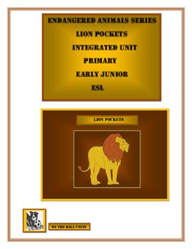 Endangered Animals. Lions. Integrated Study. Kindergarten,