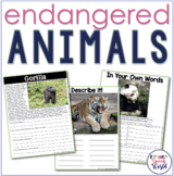 Endangered Animals Nonfiction Activities for Speech Therapy!