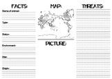 Endangered Animals Pamphlet template