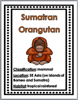 Endangered Animals Science Posters Plus Interactive Flap Book & Printables
