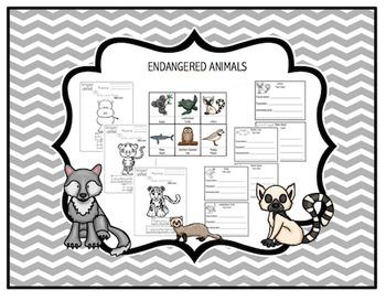 Endangered Animals Printable