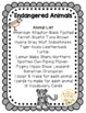 Endangered Animals Printable